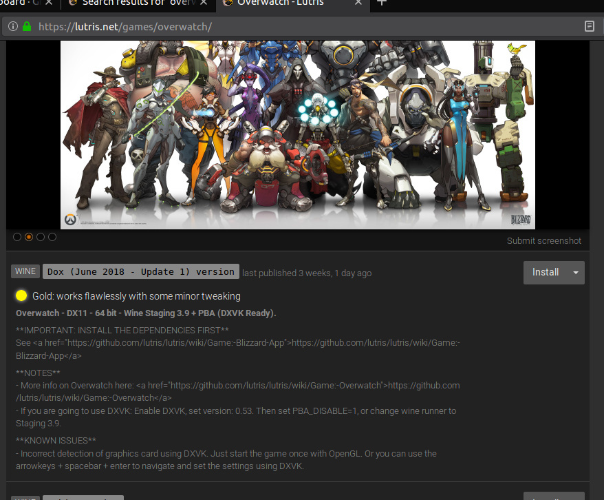 Overwatch DX11 - Feedback & Suggestions - Lutris Forums