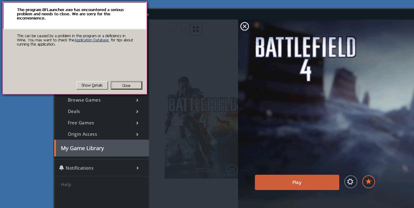 Battlefield 4 not run (BFLauncher exe error) - Support - Lutris Forums