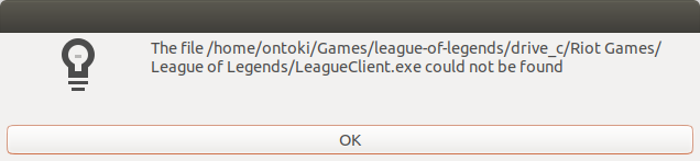 League of Legends, Windows-DX9, game not installed in Wine