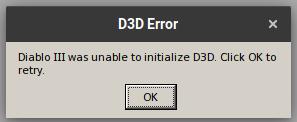 Diablo 3 can't initialize D3D - Feedback & Suggestions - Lutris Forums