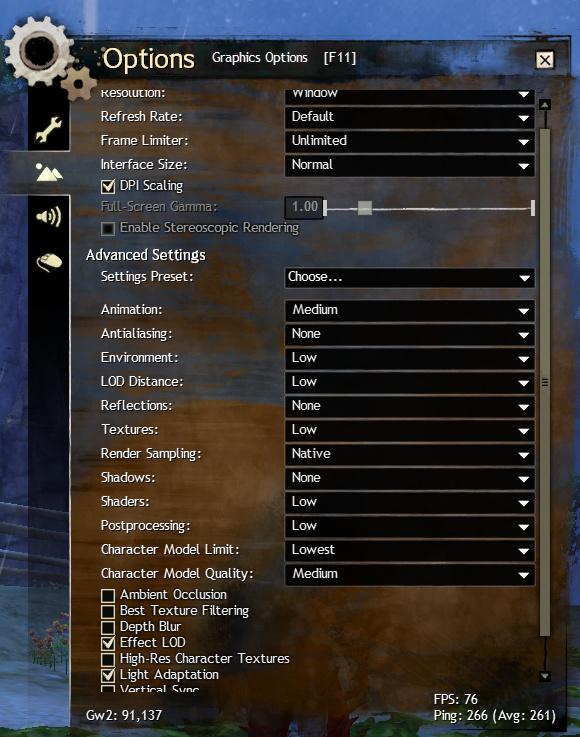 Guild Wars 2 Poor Framerates - Support - Lutris Forums