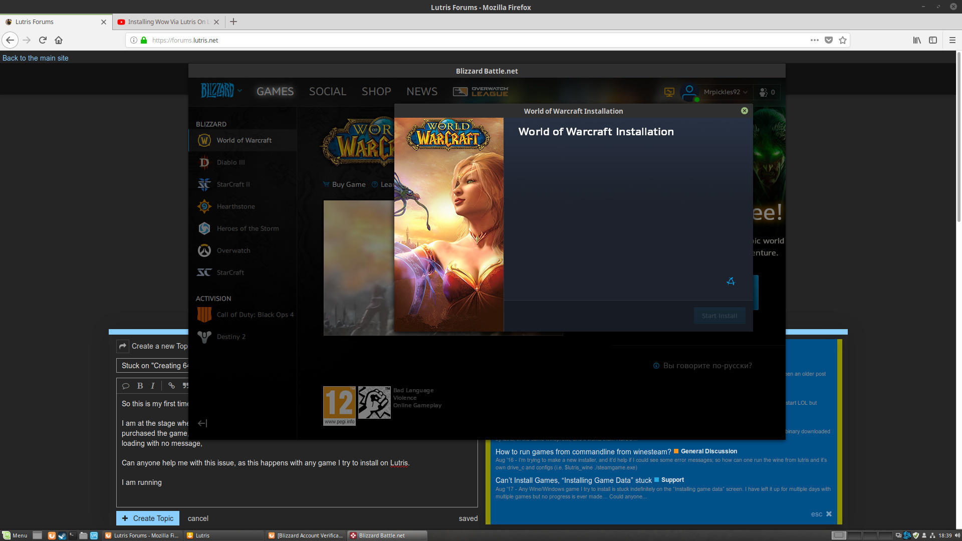 battlenet download stuck on initializing