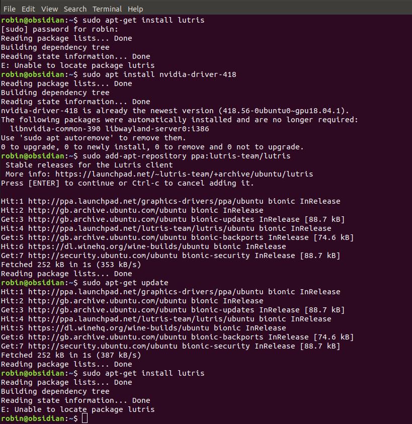 Ubuntu 18 04 2 cannot install lutris - Support - Lutris Forums
